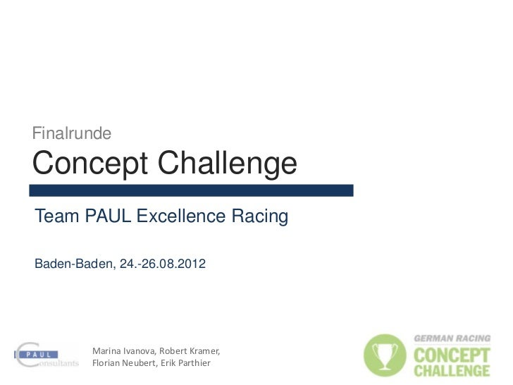 FinalrundeConcept ChallengeTeam PAUL Excellence RacingBaden-Baden, 24.-26.08.2012         Marina Ivanova, Robert Kramer,  ...