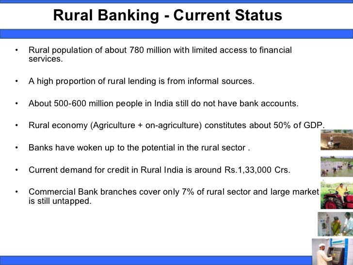 essays on rural banking in india A snapshot of the banking sector in india incl market size, industry analysis and policy initiatives to improve banking services via technology & infrastructur.