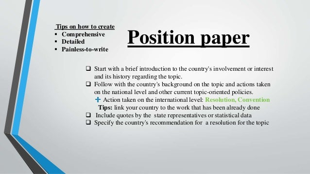 Position paper writing service