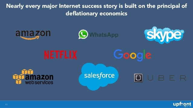 11 Nearly every major Internet success story is built on the principal of deflationary economics