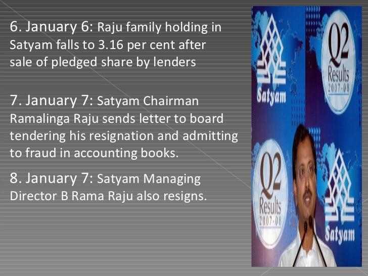 satyam Scandal – Ramalinga Raju Resignation Letter