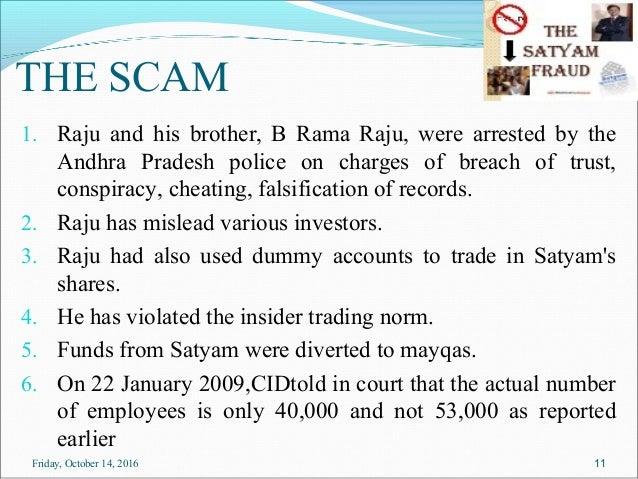 satyam scam ppt