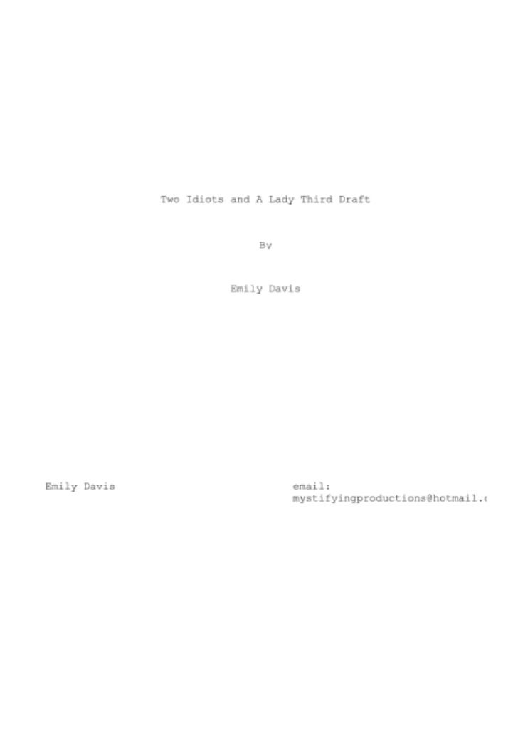 Final Script Draft 3