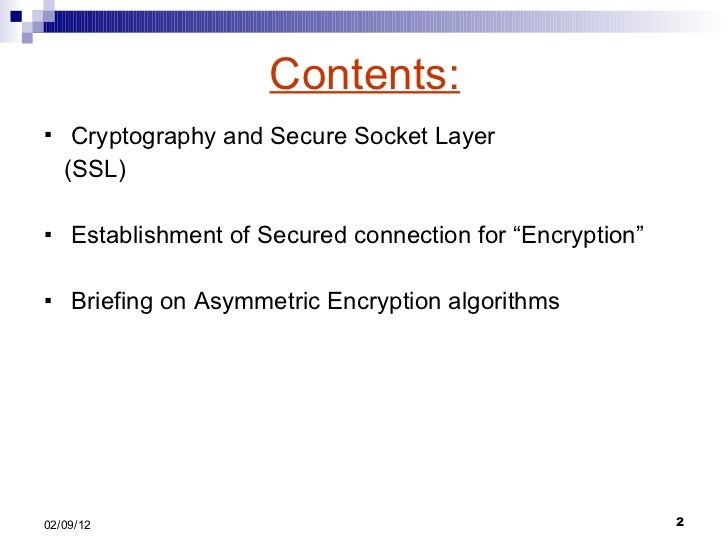 ssl secure socket layer Ssl (secure socket layer) is the standard security technology for establishing an encrypted link between a web server and a browser this secure link ensures that all data transferred remains private.