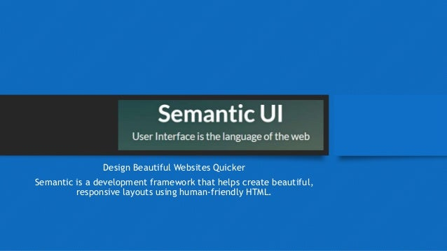 Semantic UI Introduction