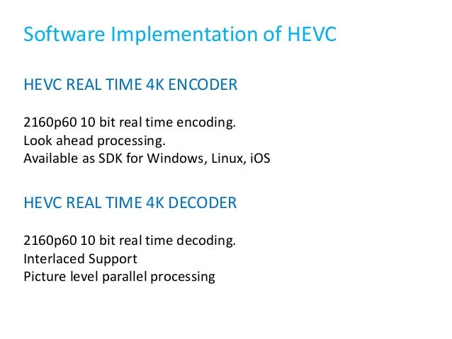 An Overview of High Efficiency Video Codec HEVC (H 265)