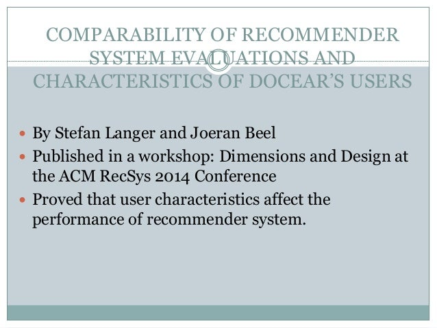the architecture and datasets of docear's This cited by count includes citations to the following articles in scholar  the architecture and datasets of docear's research paper recommender system j beel.