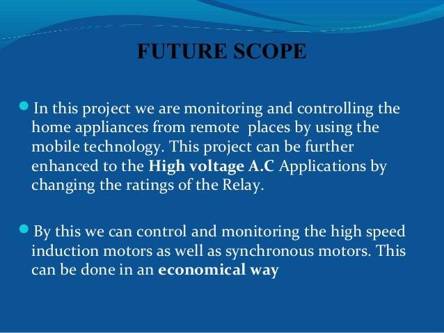 Mobile control home appliances project