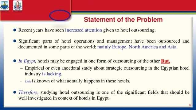 outsourcing statement thesis