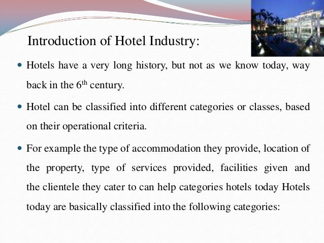 Scope and limitation of a hotel reservation system Essay