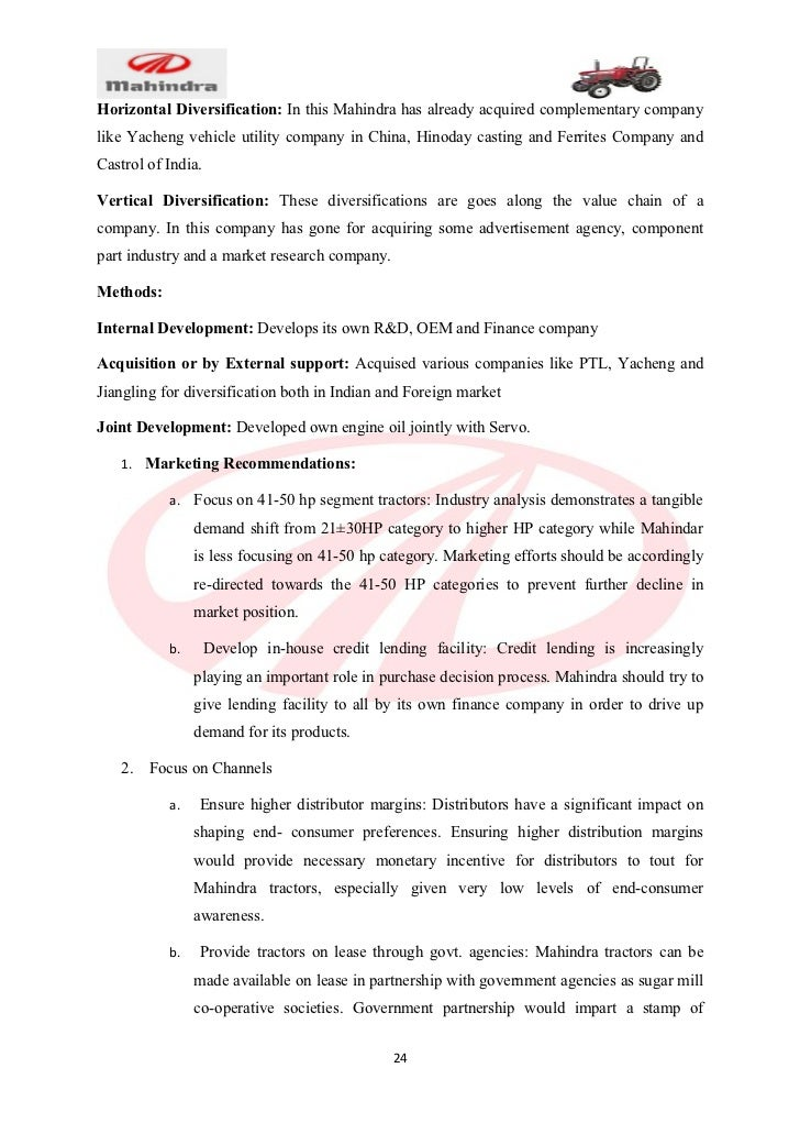 Pest analysis of mahindra tractor