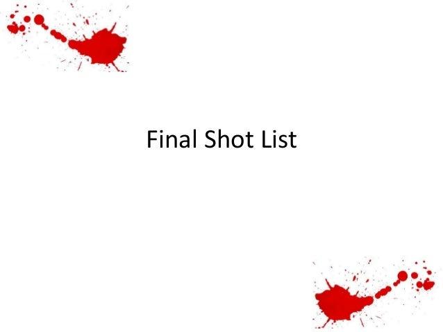 Final Shot List