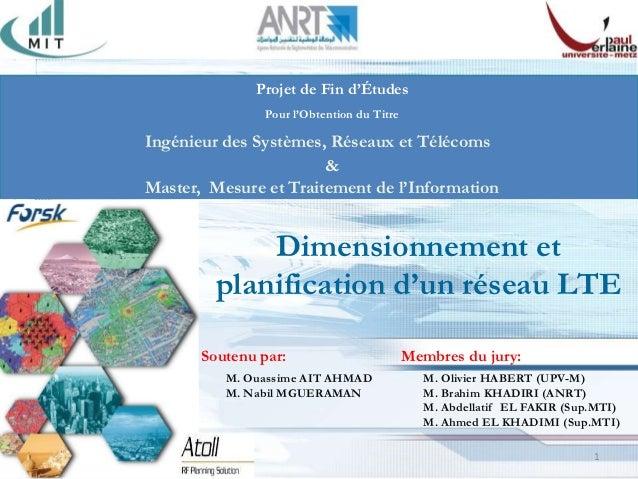 Projet de Fin d'Études               Pour l'Obtention du TitreIngénieur des Systèmes, Réseaux et Télécoms                 ...
