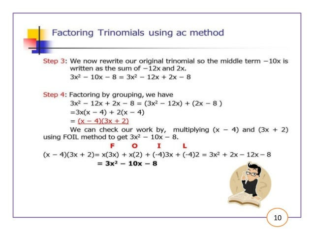 factoring trinomials using ac method