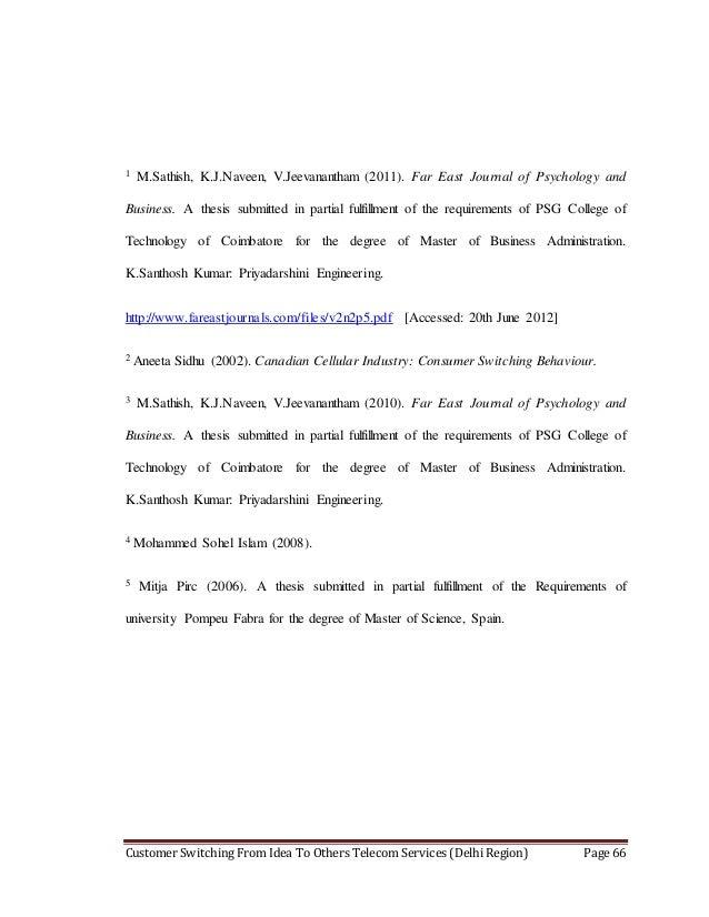 Consumer Behaviour Dissertation Topics