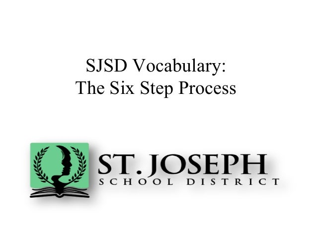 SJSD Vocabulary:The Six Step Process