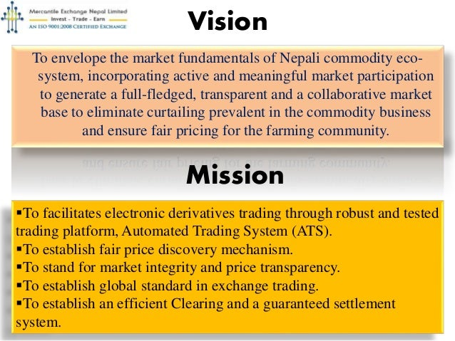 Mercantile Exchange Nepal Limited A Commodity Derivative