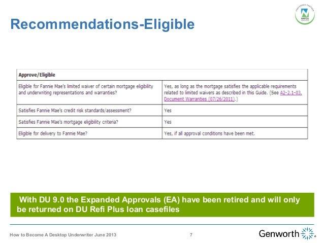 desktop underwriter training webinar slides rh slideshare net VA Loan USDA Loans