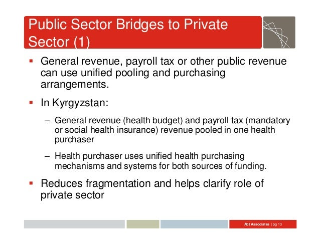 relationship between public finance and private group