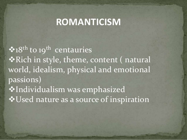 Romancticism  Literature Periods amp Movements
