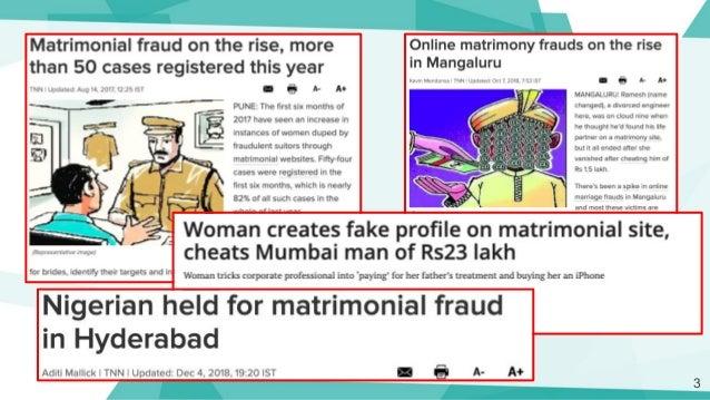 Detecting Fake Profiles On Online Matrimony Slide 3