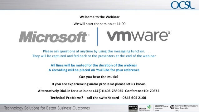 Welcome to the Webinar                                                                          We will start the session ...