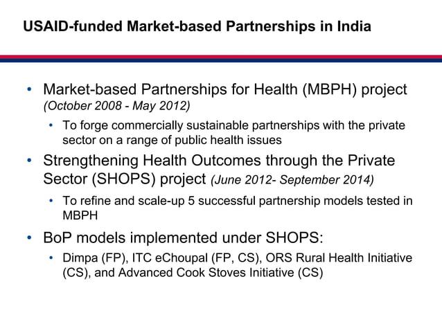 Market-basedUSAID-funded Market-based Partnerships in India                                                 Partnerships f...
