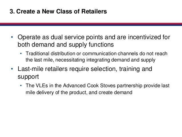 Market-based3. Create a New Class of Retailers              Partnerships for HealthClick to edit Master title style• Opera...