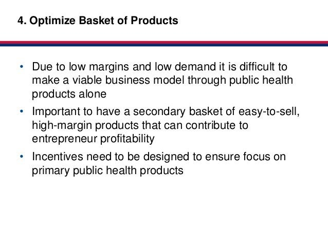Market-based4. Optimize Basket of Products           Partnerships for HealthClick to edit Master title style• Due to low m...