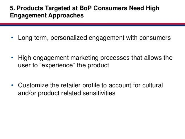 5. Products Targeted at BoP Consumers Need High                                             Market-basedEngagement Approac...