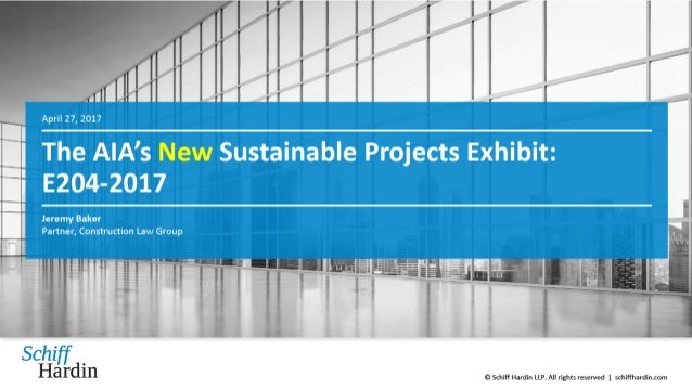 The AIA's NEW Sustainable Projects Exhibit, E204-2017