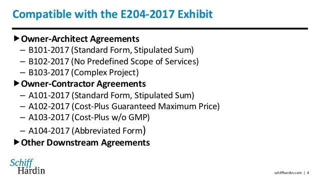 The aia 39 s new sustainable projects exhibit e204 2017 for Cost plus a fee contract form for homebuilding