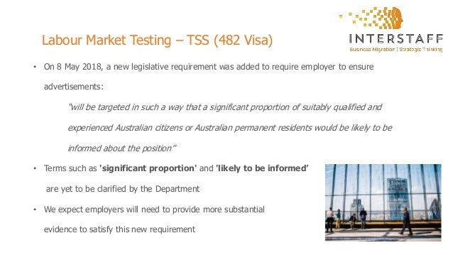 Transitioning to the TSS visa program (Subclass 482