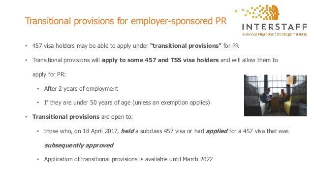 Transitioning to the TSS visa program (Subclass 482