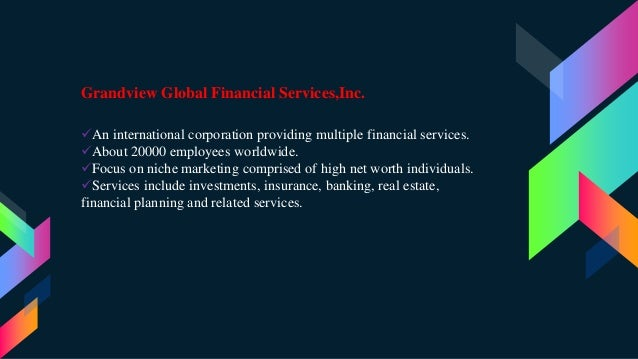 Global financial corp case