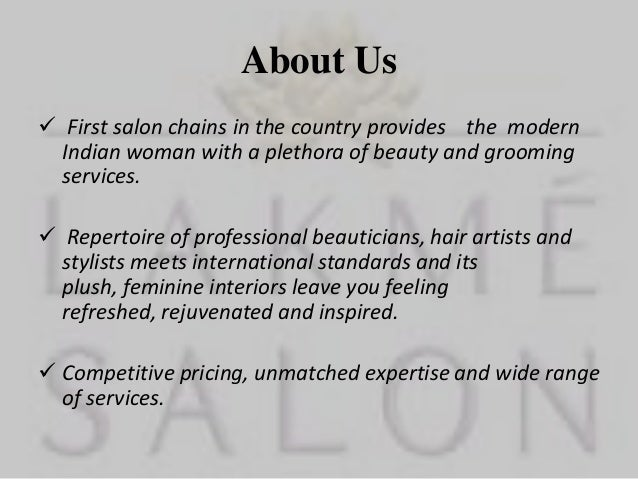 lakme salon service marketing