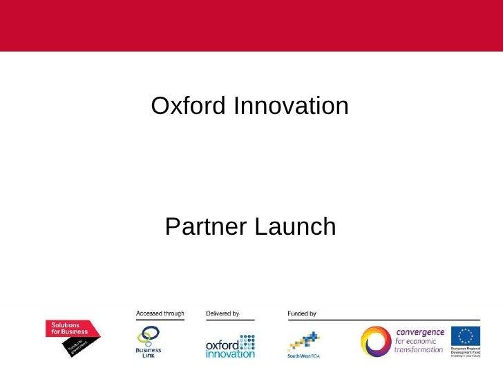 Oxford Innovation  Partner Launch