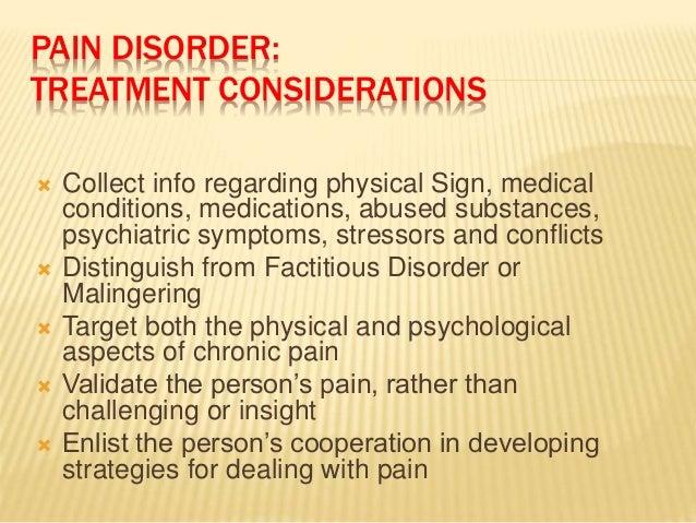 Comprehending factitious disorder essay
