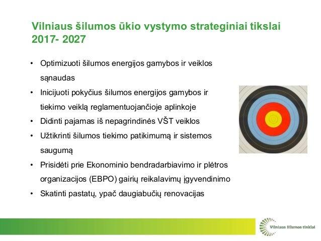 • Optimizuoti šilumos energijos gamybos ir veiklos sąnaudas • Inicijuoti pokyčius šilumos energijos gamybos ir tiekimo vei...