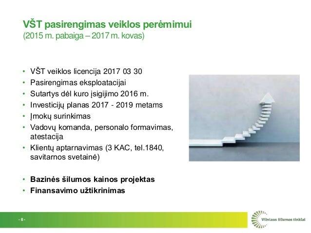 VŠT pasirengimas veiklos perėmimui (2015 m. pabaiga – 2017 m. kovas) • VŠT veiklos licencija 2017 03 30 • Pasirengimas eks...