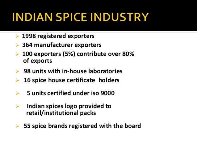 international marketing- indian spice industry