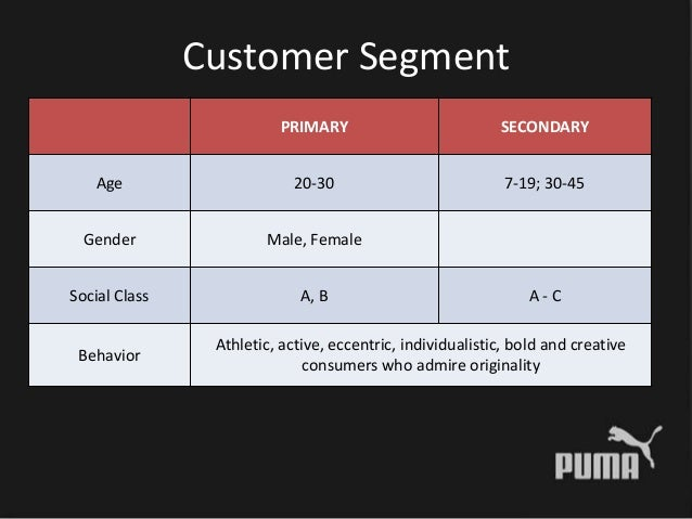 puma segmentation Psychographic target group analysis on the basis of an empirical research for the brands adidas, nike and puma using the innovative approach of the semiometrie.