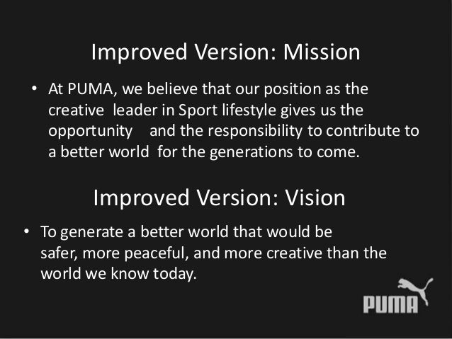 Cartero Exquisito Lechuguilla  puma mission and vision statement off 63% - www.ncccc.gov.eg