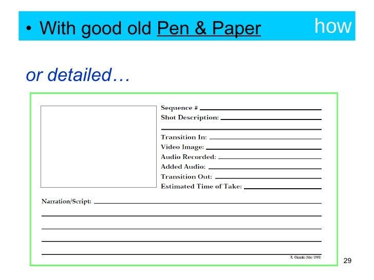 how <ul><li>With good old  Pen & Paper </li></ul><ul><li>or detailed… </li></ul>