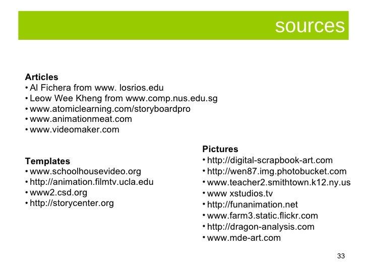 sources <ul><li>Articles </li></ul><ul><li>Al Fichera from www. losrios.edu  </li></ul><ul><li>Leow Wee Kheng from www.com...