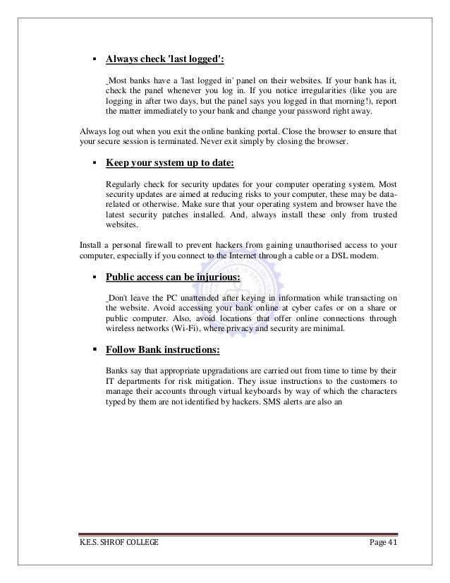 Final study of internet banking in india