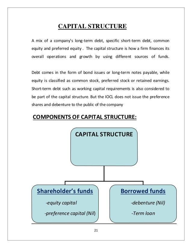 analysis of capital structure of ihg Impact of capital structure on the financial performance of nigerian firms capital structure is the means by which an organization is financed.