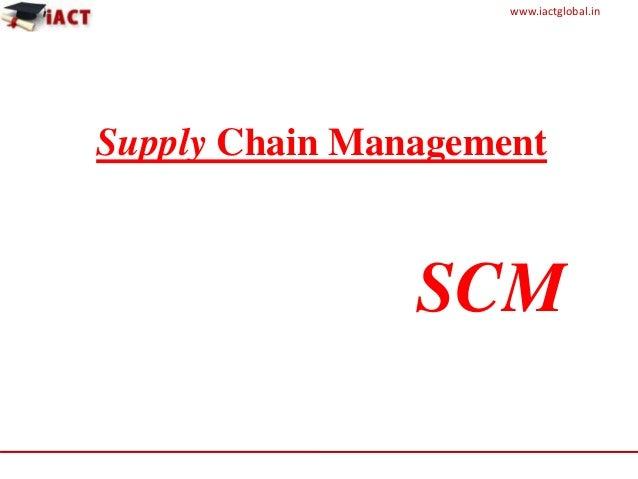 Final exam supply chain
