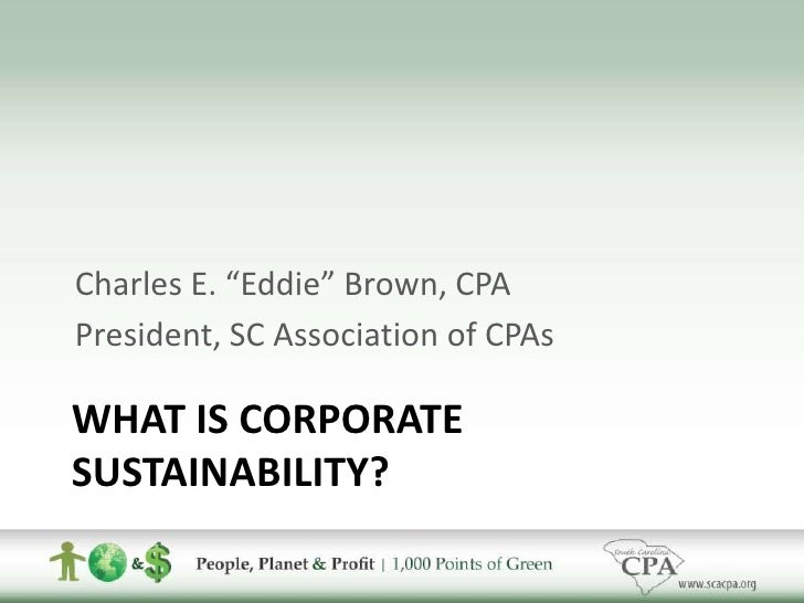 Final sustainability
