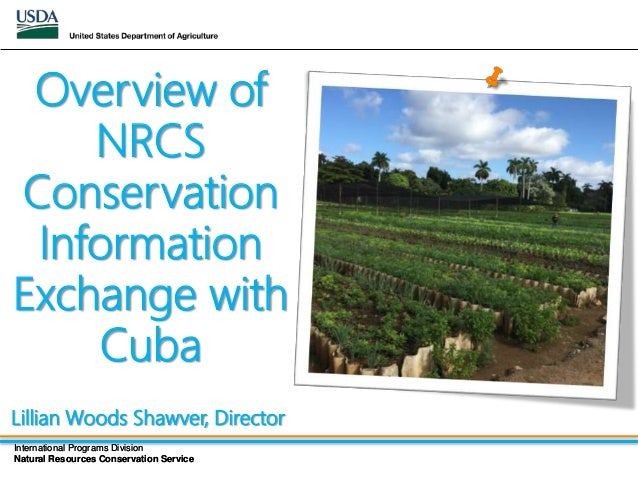 Overview of nrcs cons info exchange with cuba